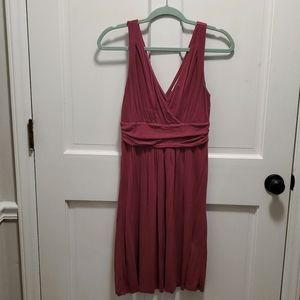 Loft wine colored a-line dress